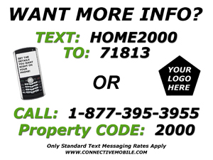 Real Estate Mobile Marketing Yard Sign